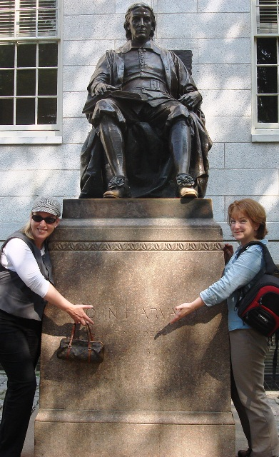 Shannyn & Jeanne with John Harvard